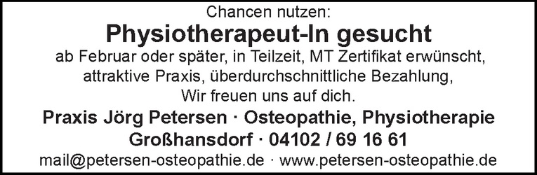Physiotherapeut-In