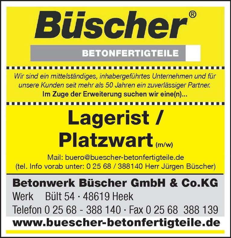 Lagerist / Platzwart (m/w)