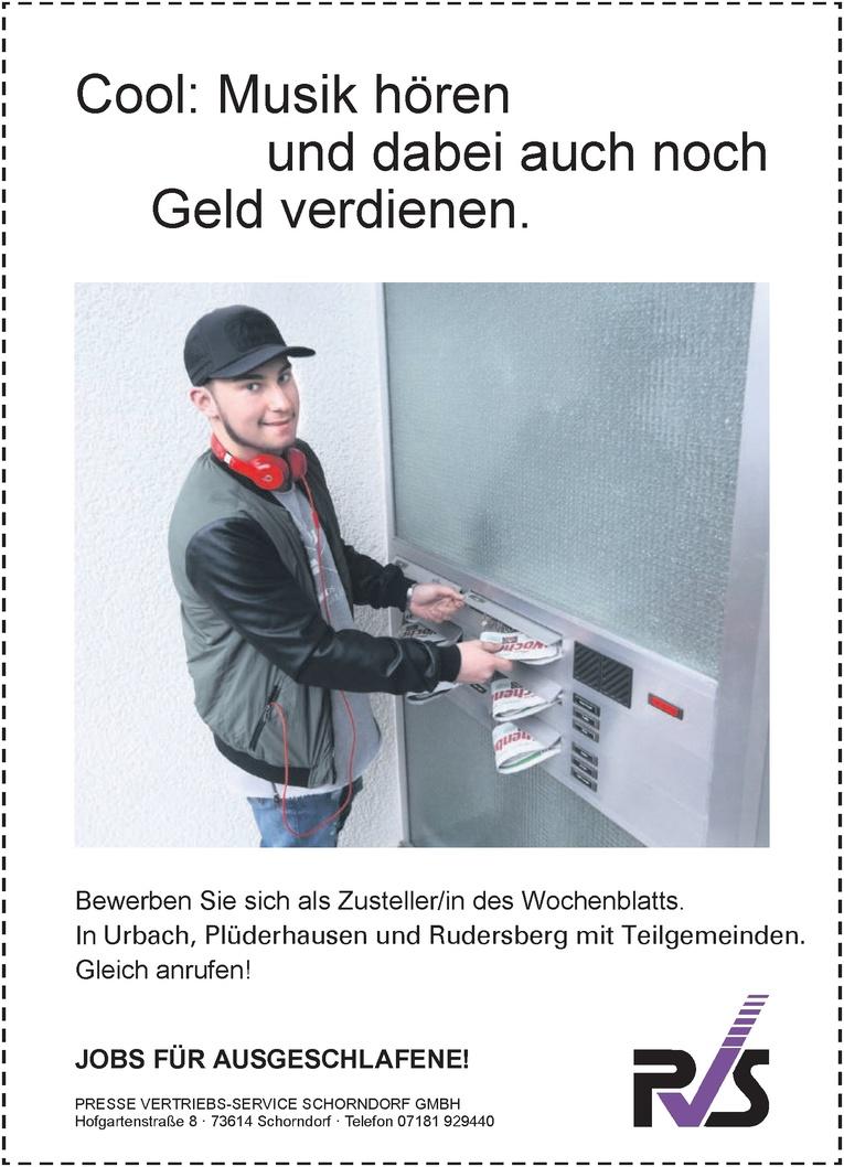 Zusteller/in des Wochenblatts.