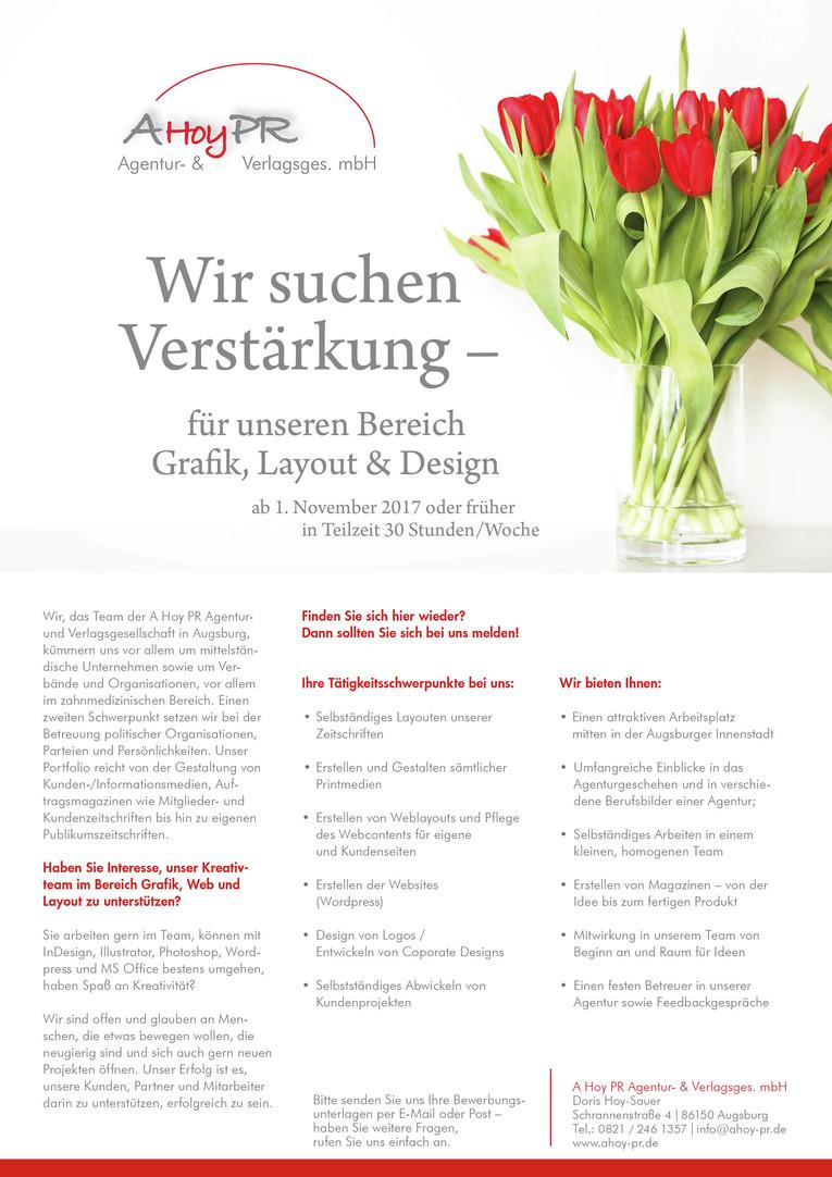 Grafiker/-in / Layouter/-in in Augsburg gesucht!