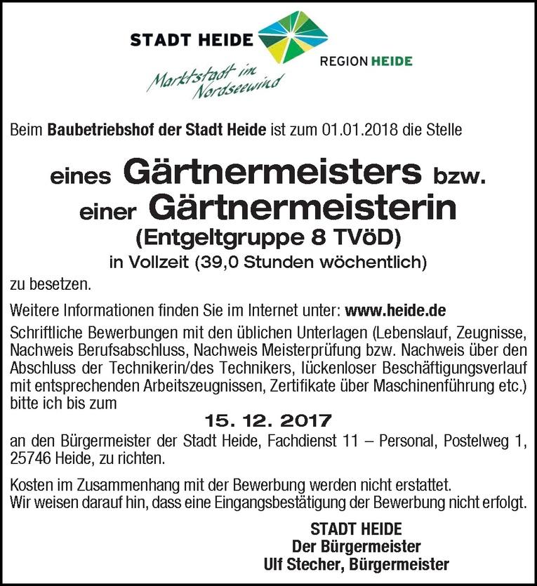 Gärtnermeister / Gärtnermeisterin