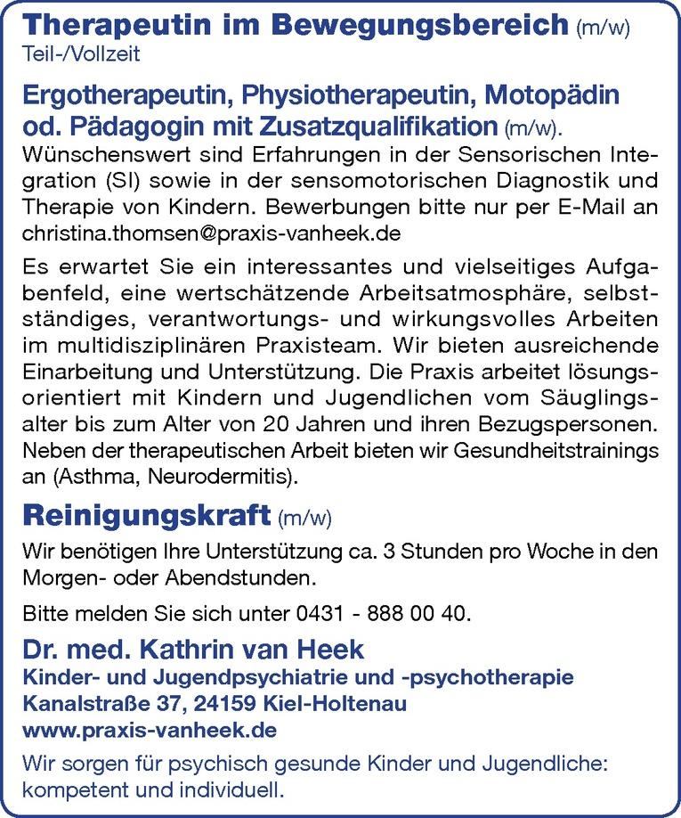 Therapeutin im Bewegungsbereich (m/w)