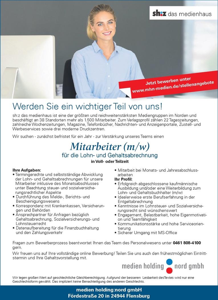 Mitarbeiter (m/w) Lohn- und Gehaltsabrechnung