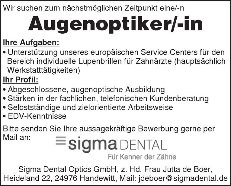 Augenoptiker/-in